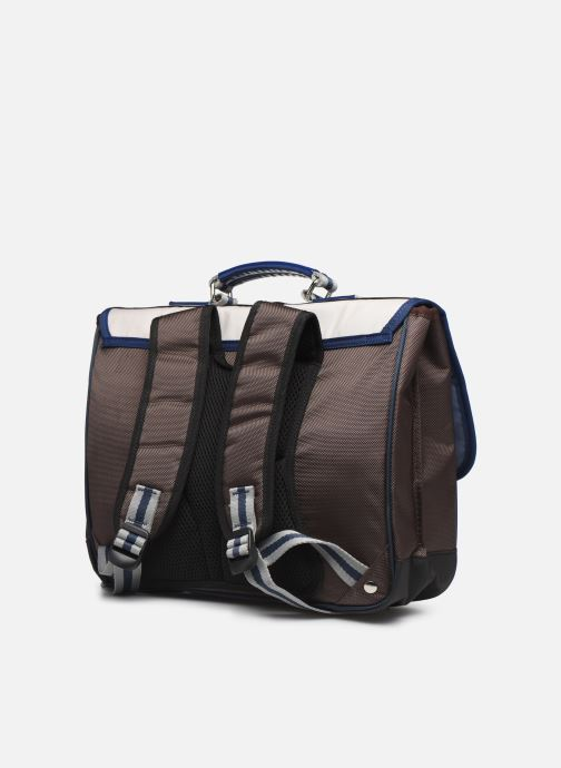 School bags Caramel & Cie Cartable Classique 37cm Beige view from the right