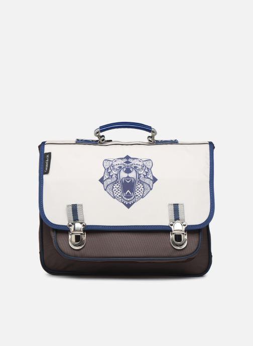 School bags Caramel & Cie Cartable Classique 37cm Beige detailed view/ Pair view
