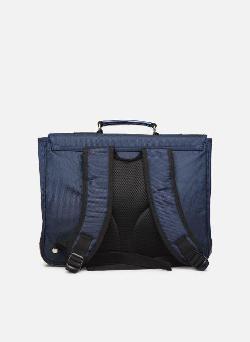 Schooltassen Caramel & Cie Cartable Classique 37cm Blauw voorkant