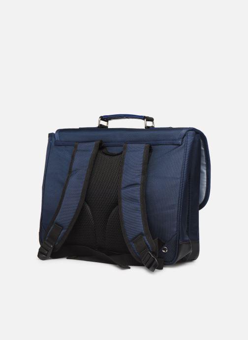 Schooltassen Caramel & Cie Cartable Classique 37cm Blauw rechts