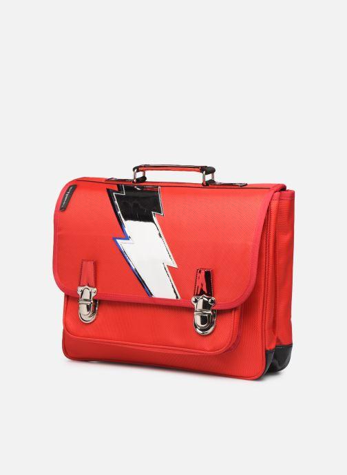 Scolaire Caramel & Cie Cartable Classique 37cm Rouge vue portées chaussures