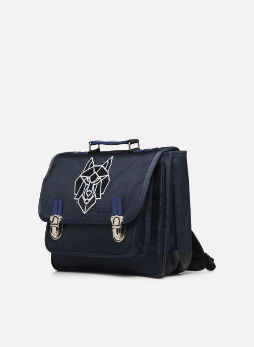 Scolaire Caramel & Cie Cartable Classique 34cm Bleu vue portées chaussures