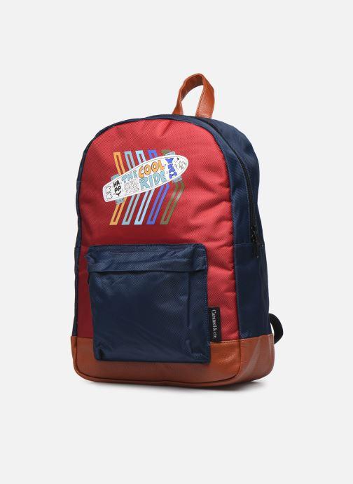 School bags Caramel & Cie Sac à dos Classique Red model view