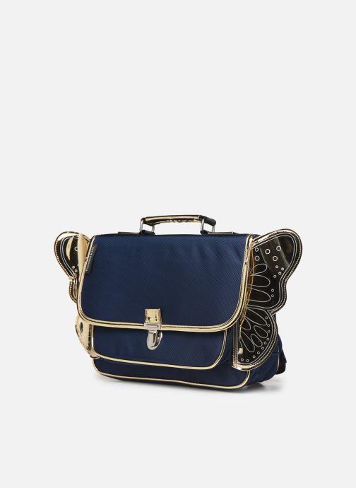 Scolaire Caramel & Cie Mini cartable Papillons Bleu vue portées chaussures