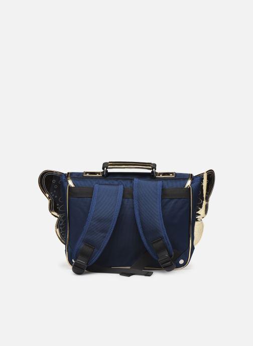 Scolaire Caramel & Cie Mini cartable Papillons Bleu vue face