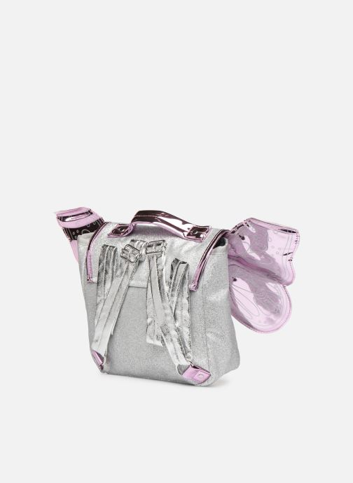 School bags Caramel & Cie Mini cartable Papillons Silver view from the right