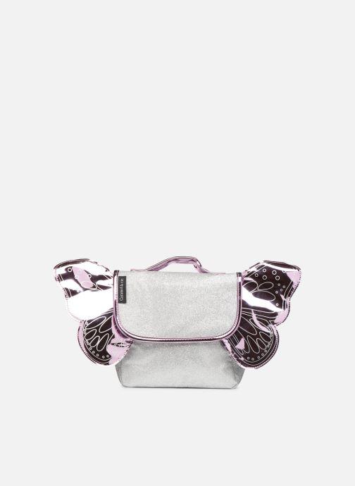 Schooltassen Caramel & Cie Mini cartable Papillons Zilver detail