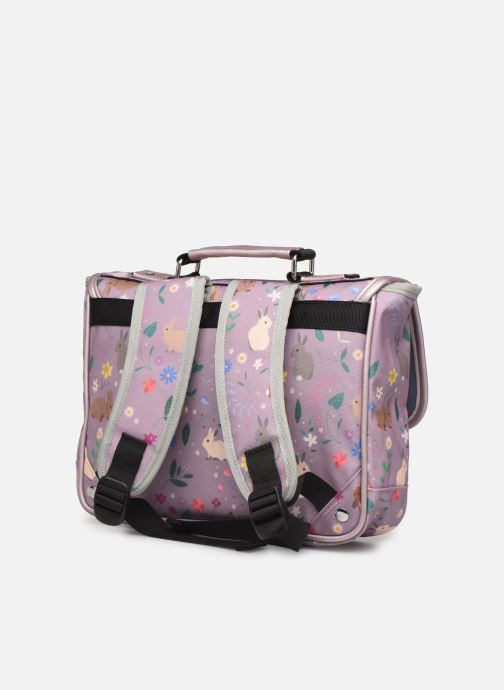 School bags Caramel & Cie Mini cartable Purple view from the right
