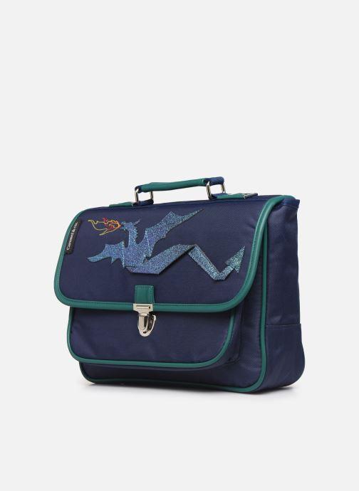 Scolaire Caramel & Cie Mini cartable Bleu vue portées chaussures