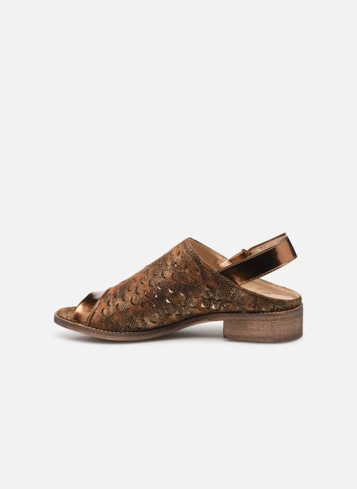 Sandales et nu-pieds Vanessa Wu SD1319 Or et bronze vue face