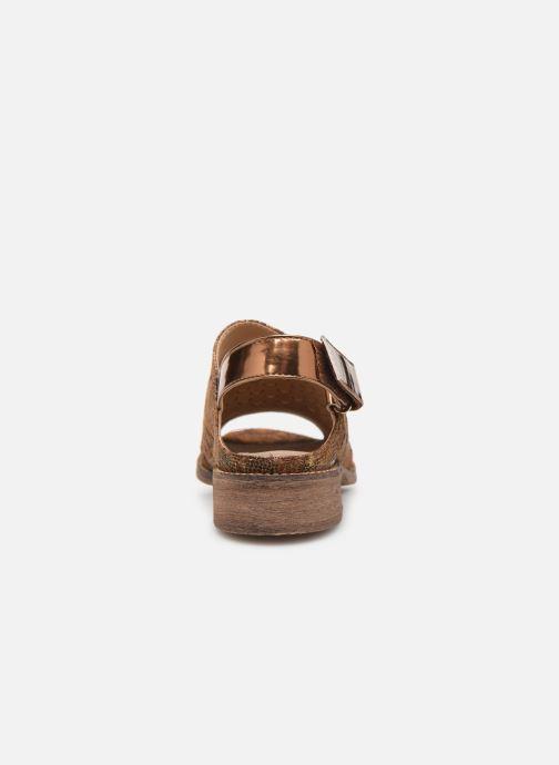 Sandales et nu-pieds Vanessa Wu SD1319 Or et bronze vue droite