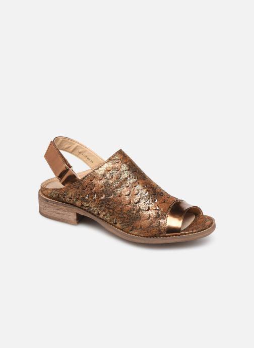 Sandales et nu-pieds Vanessa Wu SD1319 Or et bronze vue détail/paire