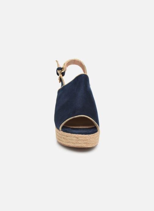 Espadrilles Vanessa Wu SD1246 Bleu vue portées chaussures