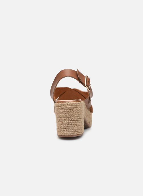 Espadrilles Vanessa Wu SD1247 Brown view from the right
