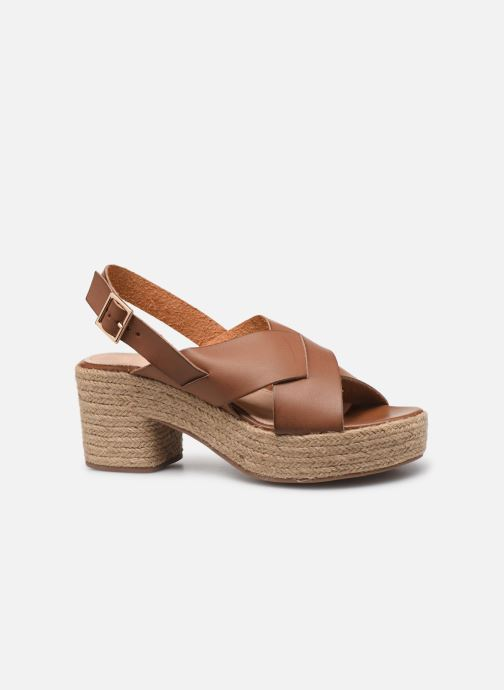 Espadrilles Vanessa Wu SD1247 Brown back view