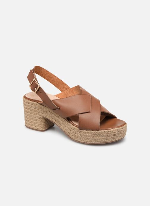 Espadrilles Vanessa Wu SD1247 Brown detailed view/ Pair view