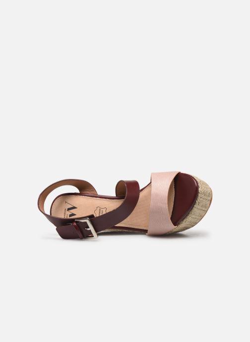 Scarpe di corda Vanessa Wu SD1271 Bordò immagine sinistra