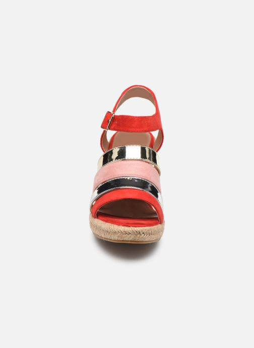 Espadrilles Vanessa Wu SD1588 Rouge vue portées chaussures