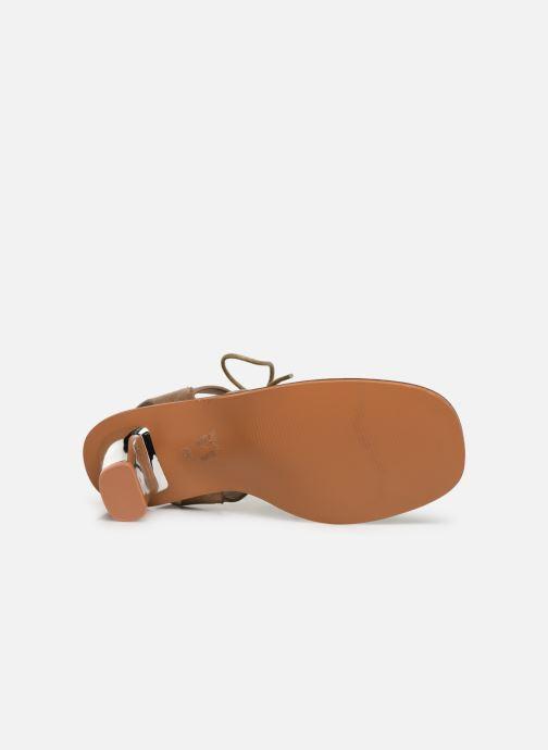 Sandales et nu-pieds Vanessa Wu SD1552 Beige vue haut