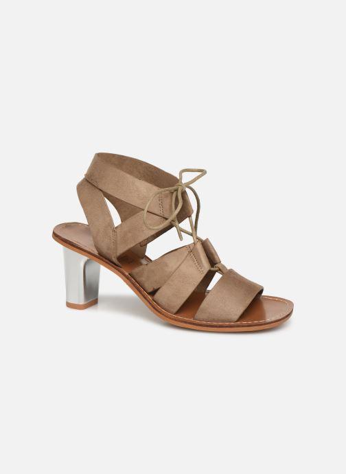 Sandales et nu-pieds Vanessa Wu SD1552 Beige vue détail/paire