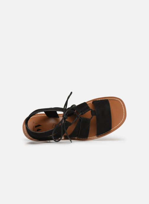 Vanessa Wu SD1552 (Noir) - Sandales et nu-pieds chez  (381350)
