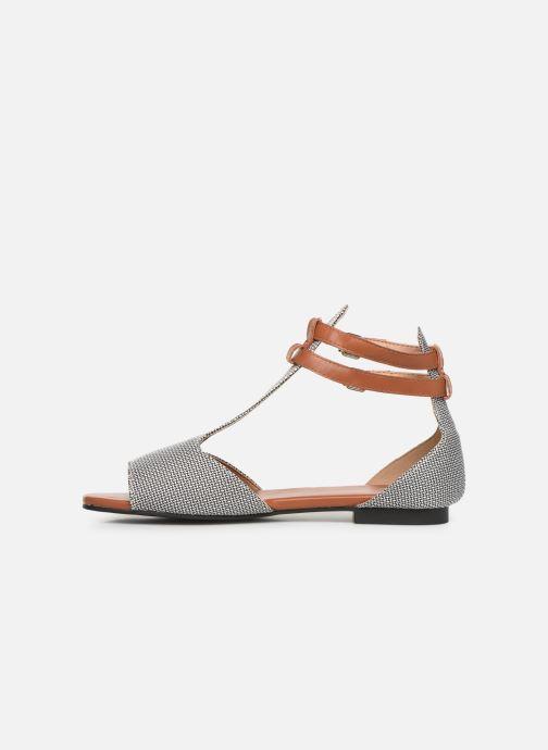 Sandales et nu-pieds Vanessa Wu SD1793 Gris vue face