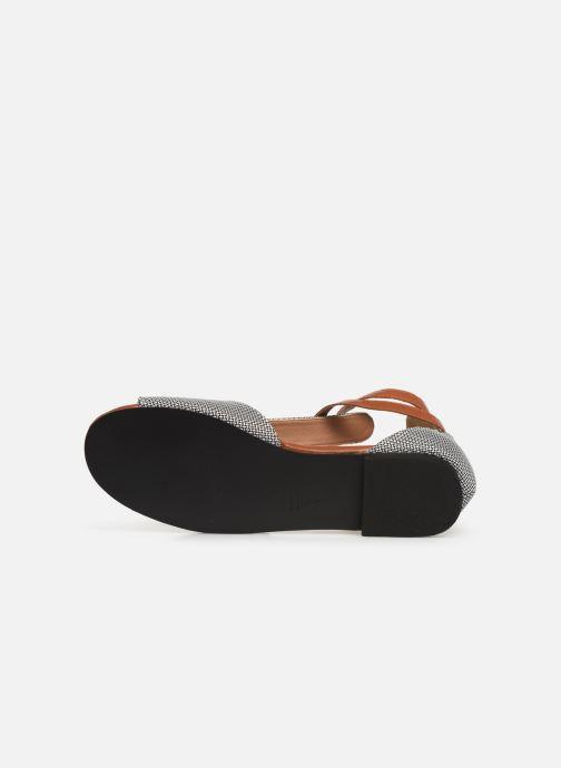 Sandales et nu-pieds Vanessa Wu SD1793 Gris vue haut