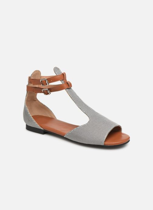 Sandals Vanessa Wu SD1793 Grey detailed view/ Pair view