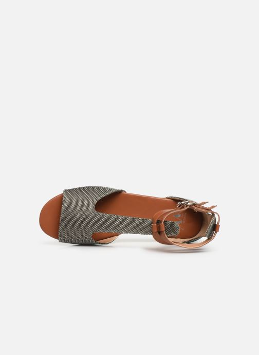 Sandales et nu-pieds Vanessa Wu SD1793 Vert vue gauche