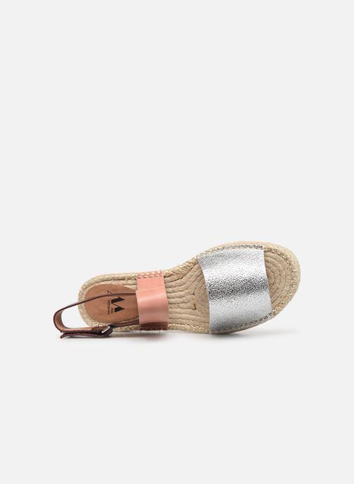 Sandales et nu-pieds Vanessa Wu SD1283 Argent vue gauche