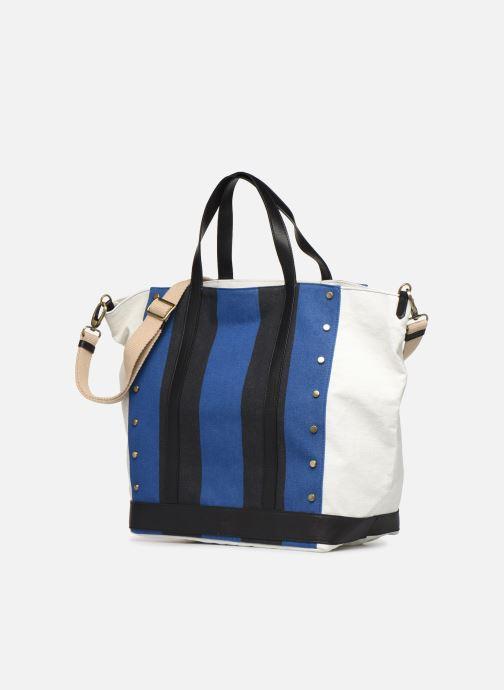 Handtaschen Vanessa Bruno Cabas Grand Rivets blau schuhe getragen
