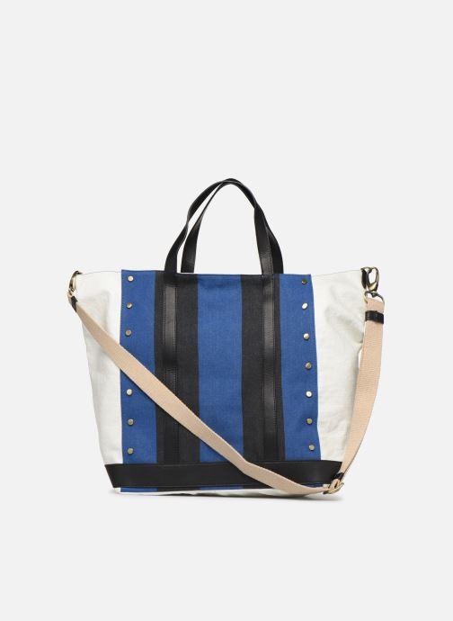 Handtaschen Vanessa Bruno Cabas Grand Rivets blau ansicht von vorne