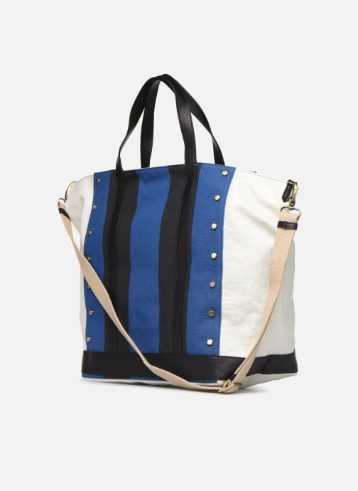Handtaschen Vanessa Bruno Cabas Grand Rivets blau ansicht von rechts