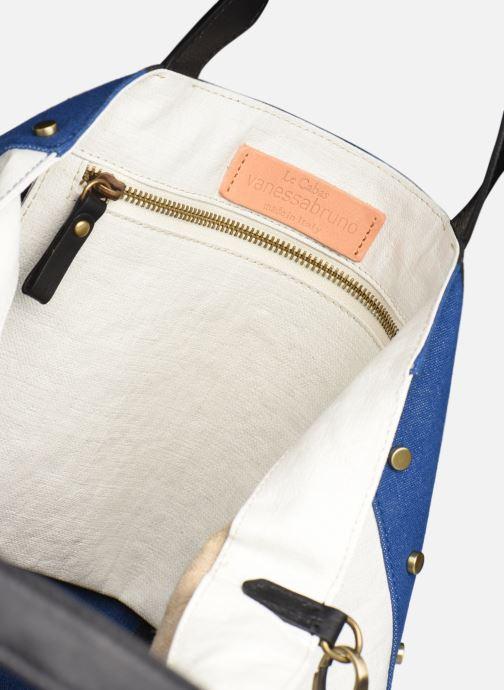Handtaschen Vanessa Bruno Cabas Grand Rivets blau ansicht von hinten