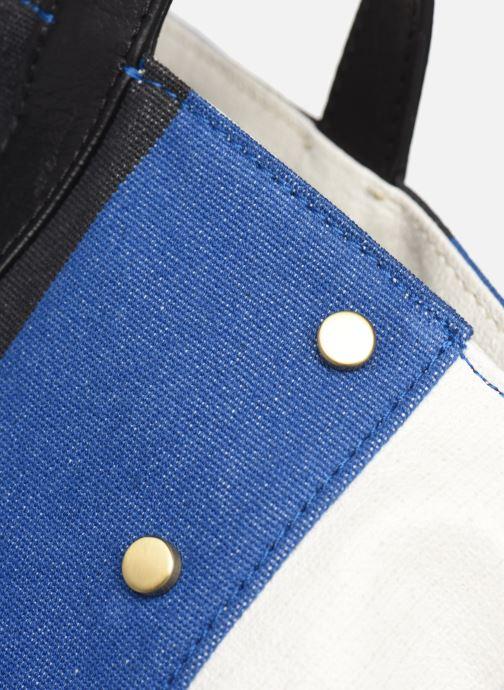 Handtaschen Vanessa Bruno Cabas Grand Rivets blau ansicht von links