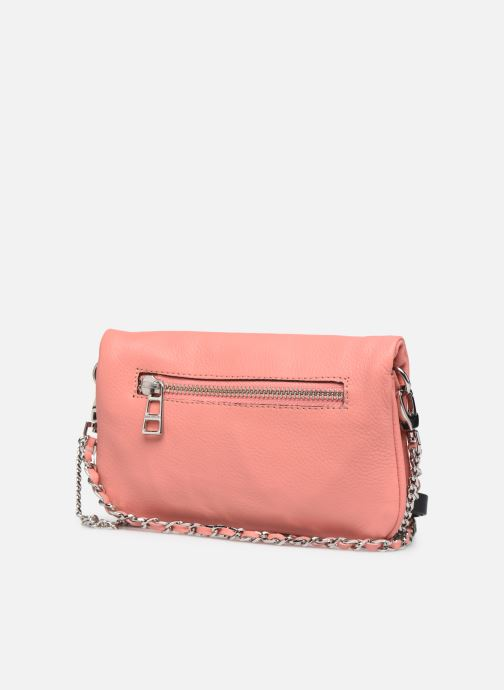 Clutch bags Zadig & Voltaire ROCK NANO GRAIN Pink view from the right
