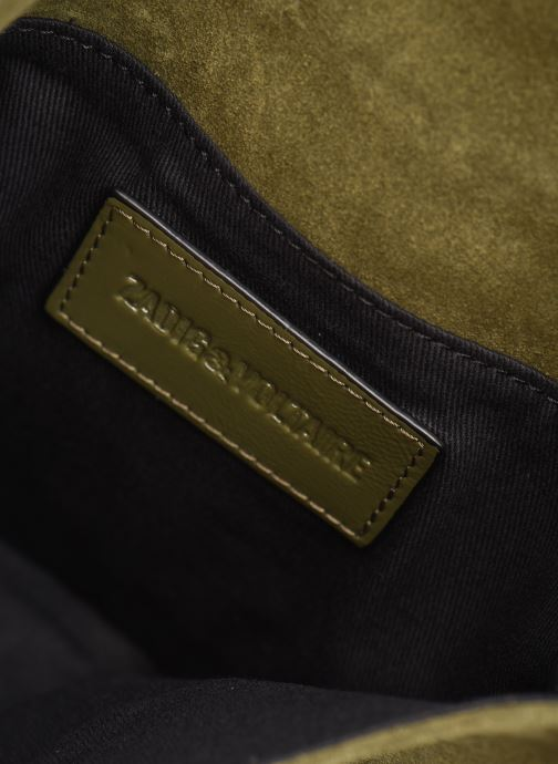 Sacs pochettes Zadig & Voltaire ROCK SUEDE PATE Vert vue derrière