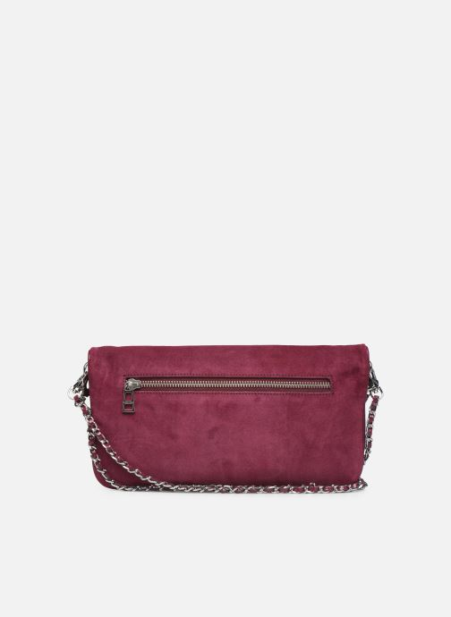 Clutch bags Zadig & Voltaire ROCK SUEDE PATE Purple front view
