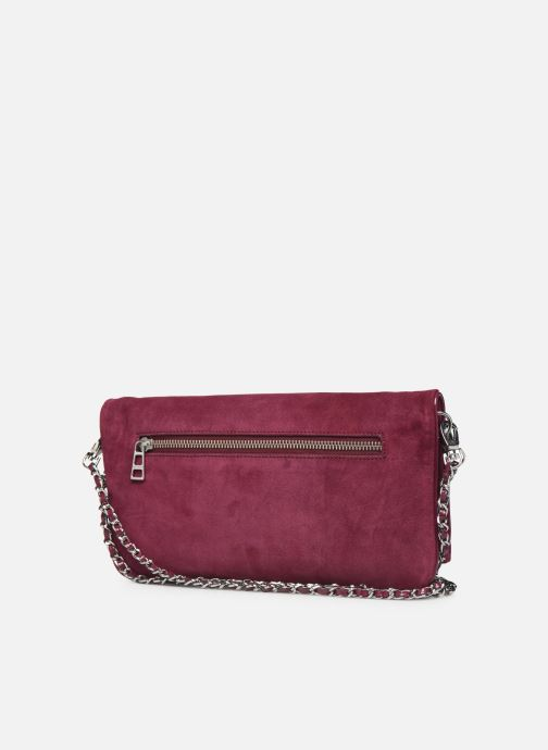 Clutch bags Zadig & Voltaire ROCK SUEDE PATE Purple view from the right
