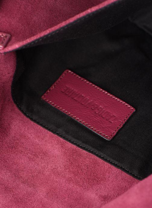 Sacs pochettes Zadig & Voltaire ROCK SUEDE PATE Violet vue derrière