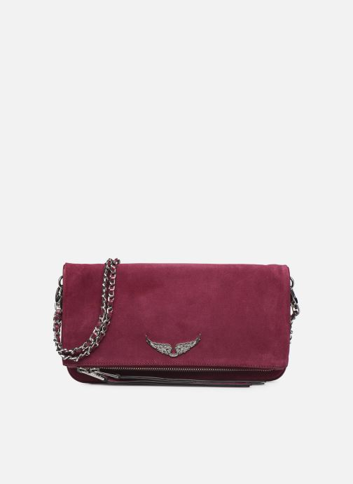 Clutch bags Zadig & Voltaire ROCK SUEDE PATE Purple detailed view/ Pair view