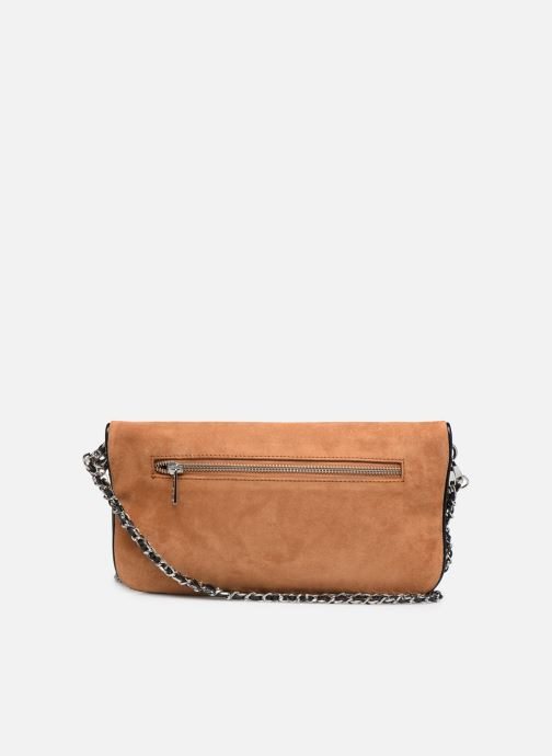 Clutch bags Zadig & Voltaire ROCK SUEDE PATE Brown front view