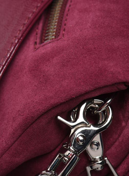 Bolsos de mano Zadig & Voltaire ROCKY SUEDE PAT Violeta      vista lateral izquierda