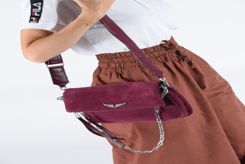 Bolsos de mano Zadig & Voltaire ROCKY SUEDE PAT Violeta      vista de abajo