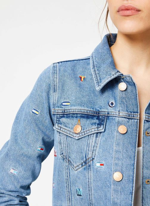Vêtements Tommy Jeans REGULAR TRUCKER JACKET W Bleu vue face