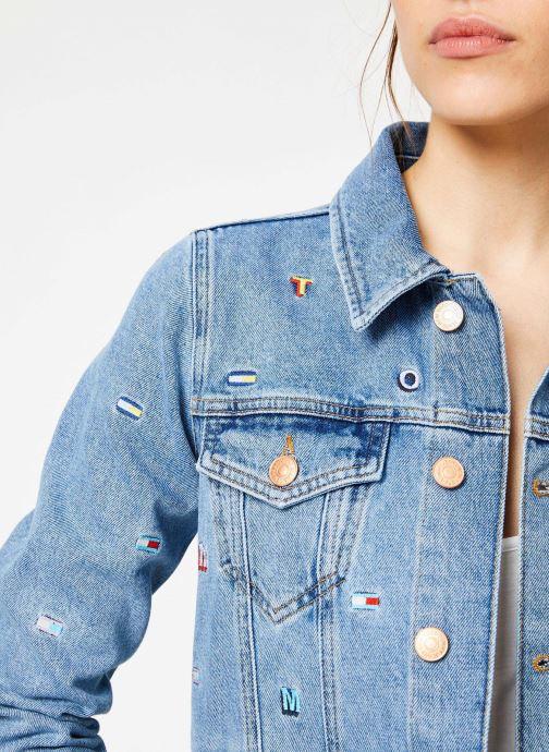 Kleding Tommy Jeans REGULAR TRUCKER JACKET W Blauw voorkant