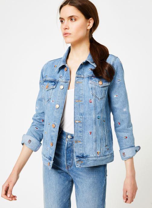 Kleding Tommy Jeans REGULAR TRUCKER JACKET W Blauw rechts