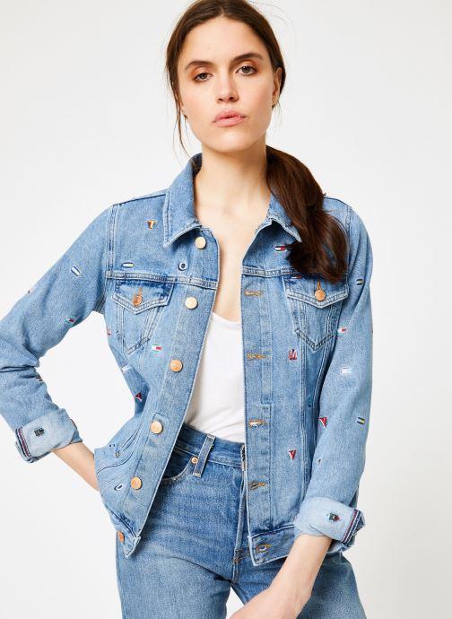 Kleding Tommy Jeans REGULAR TRUCKER JACKET W Blauw detail