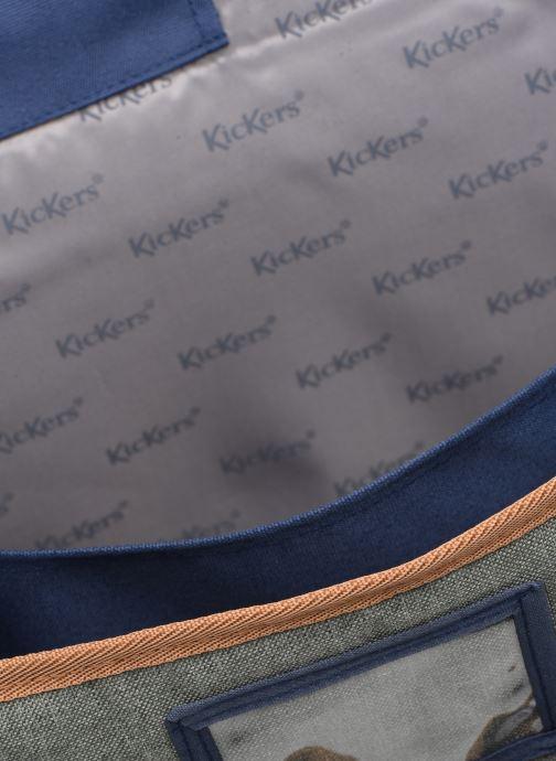 Scolaire Kickers Scolaire Cartable 38 CM 2 soufflets Kickers BOY Bleu vue derrière