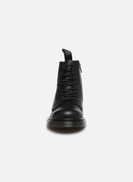 Bottines et boots Dr. Martens 1460 Pascal Mono J Noir vue portées chaussures